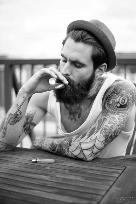 Ricki-Hall-Tattoo-and-Beard-Male-Model-4